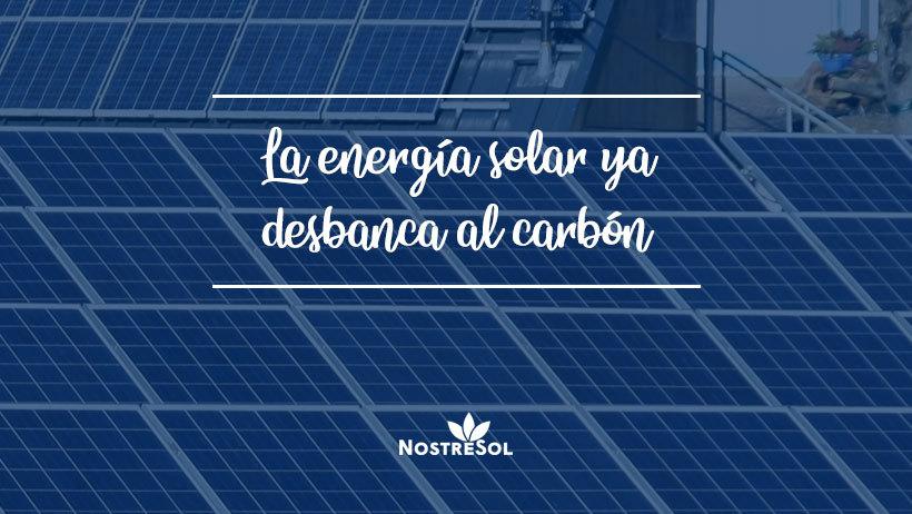 La energía solar ya desbanca al carbón
