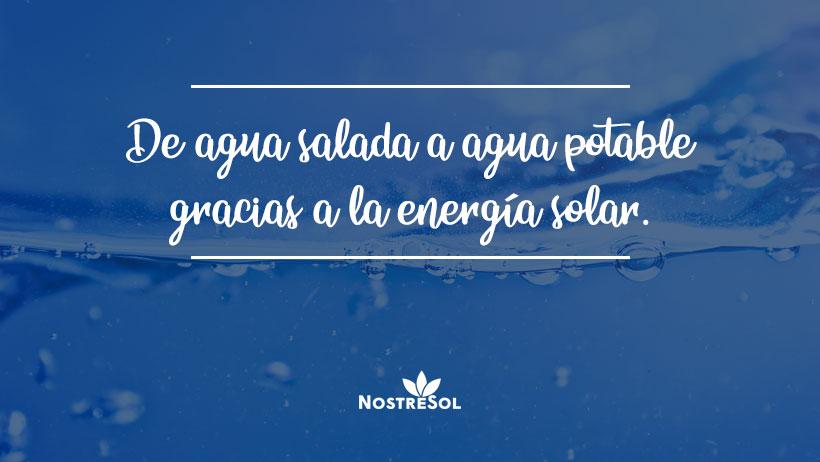 agua potable gracias a la energia solar